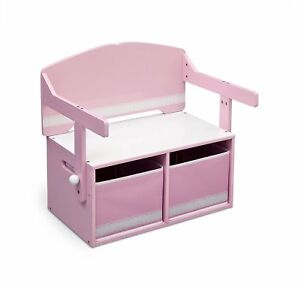 Image Is Loading Childrens Storage Bench Desk Kids Bedroom Furniture Toy