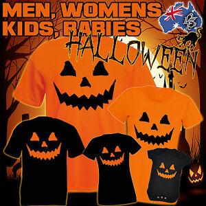 HALLOWEEN-T-SHIRT-costume-cheap-pumpkin-fancy-dress-s-MEN-WOMENS-KIDS-funny-gift