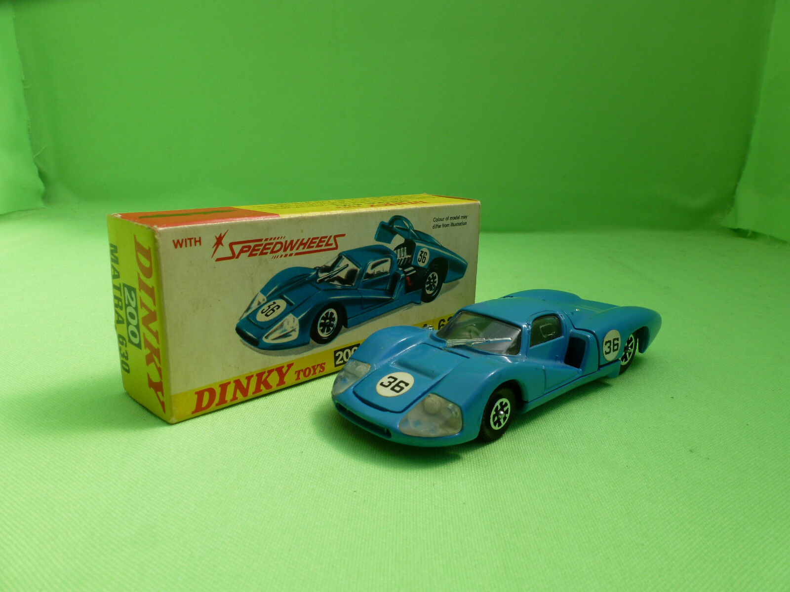 DINKY TOYS 200 MATRA 630  SPEEDWHEELS RARE SELTEN IN EXCELLENT CONDITION IN BOX
