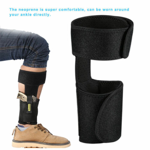 Concealed Leg Ankle Holster Pistol Pouch bag Black For Revolver Gun Hidden Carry