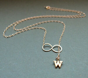 image is loading gold letter charm necklace personalized initial pendant infinity