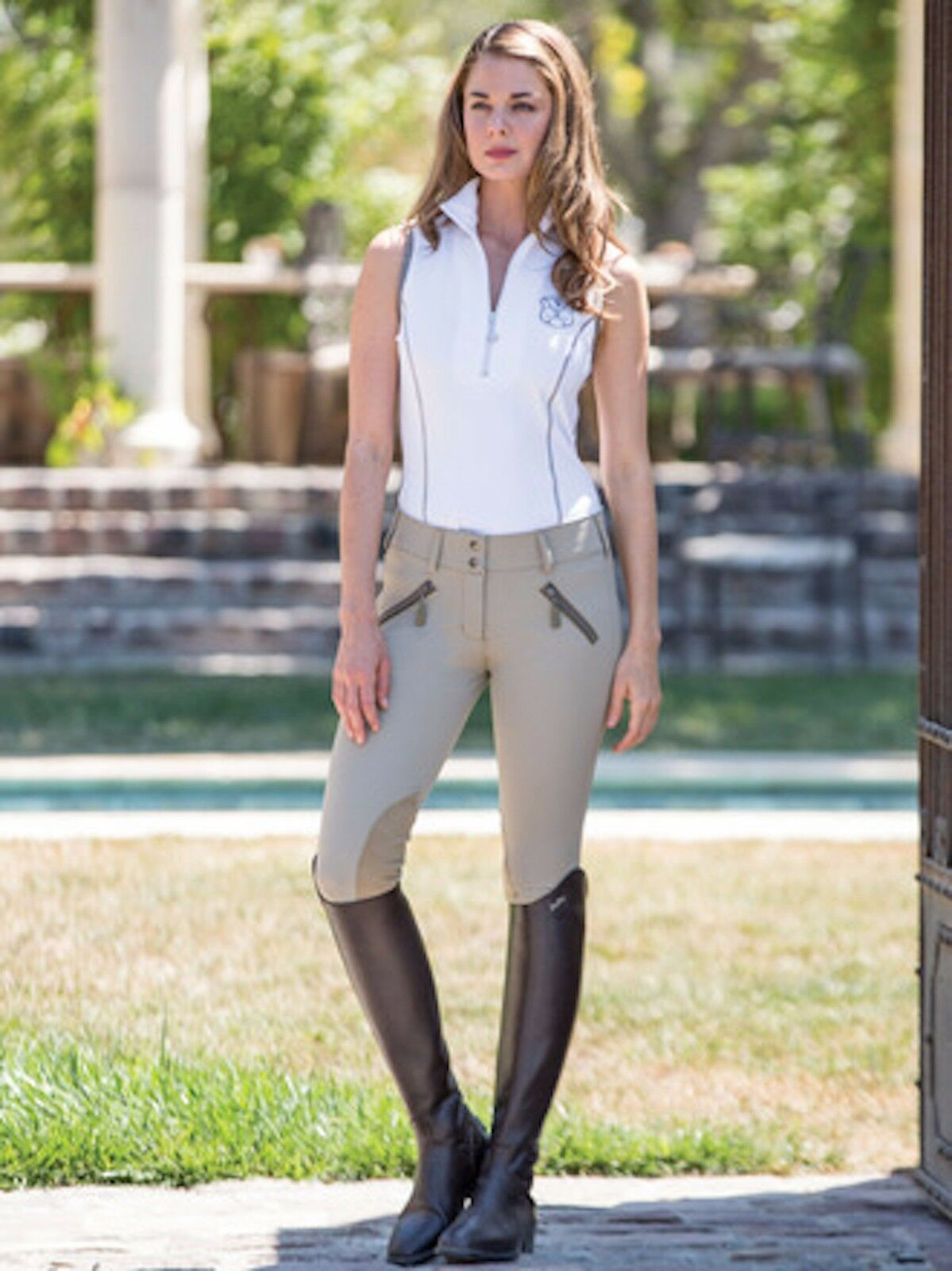 Goode Rider Legacy Breech  Knee Patch-Tan-30R  up to 70% off