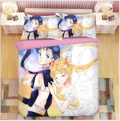 Hell Sailor Moon Anime 3tlg.4tlg Bettwäsche Bettwäschegarnitur Deckenbezug Bedding