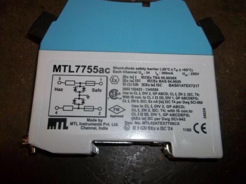 WL92-2 Details about  /NIB MTL MTL7755AC SHUNT DIODE SAFETY BARRIER
