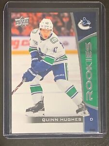 2019-20 QUINN HUGHES Upper Deck NHL ROOKIES RC Card #14 Vancouver Canucks (QTY)