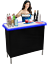 thumbnail 1 - Portable Folding Party Bar w/ Black & Hawaiian Bar Skirts & LED Lights