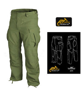 HELIKON-SFU-TROUSERS-OLIVE-GREEN-SPECIAL-FORCES-SAS-CARGO-MENS-COMBAT-PANTS