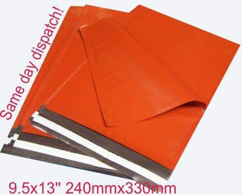 200 x ARANCIO IN PLASTICA Mailing Poly SERVIZIO POSTALE POST Bags 9.5 x 13 10x14 10 x 14