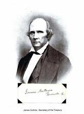 James Guthrie Autograph 21st Secretary Treasury Senator Kentucky Portland Canal