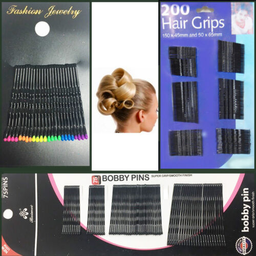 Hair Bobby Pins Grip Styling Kirby Waved Clips Salon Women Side Slide Clamp Bob