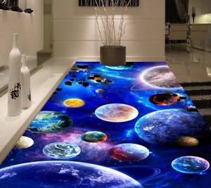 3D tierra planetas Piso impresión de parojo de papel pintado mural 548 5D AJ Wallpaper Reino Unido Limón