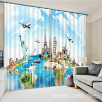 3d Famous Sites 42 Blockout Photo Curtain Printing Curtains Drapes Fabric Window