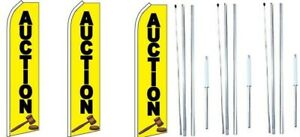3 pack Antiques Swooper Flag With Complete Hybrid Pole set