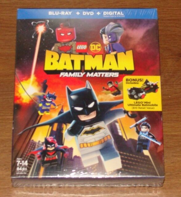 LEGO DC Batman: Family Matters (Blu-ray + DVD + Digital) NEW & SEALED With Toy!