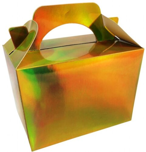 Metallic Gold Party Food Boxes Birthday Lunch Bag Filler Gift Present Children