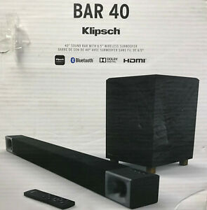 Klipsch-BAR-40-2-1-Channel-Soundbar-System-w-Subwoofer-New-Retail-399