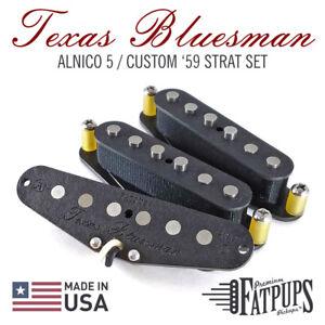 Custom-039-59-Strat-Pickup-Set-for-Stratocaster-Guitar-Hand-Wound-ALNICO-5