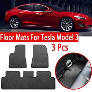 For Tesla Model 3 Floor Mats Car Anti-Slip Genuine Rubber ...