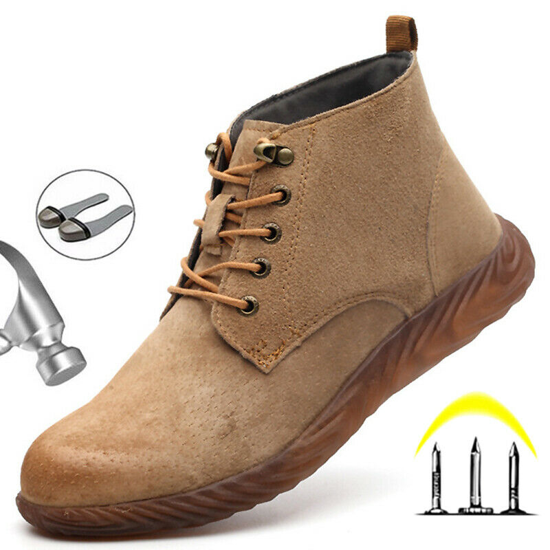 MENS WOMENS SAFETY TRAINERS WORK LIGHTWEIGHT STEEL TOE CAP BOOTS SHOES