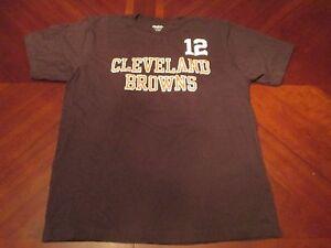sale retailer 8d547 7d601 Details about REEBOK NFL CLEVELAND BROWNS COLT McCOY JERSEY T-SHIRT SIZE L