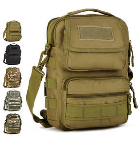 b62959e79f Image is loading Men-039-s-Nylon-Military-Tactical-Briefcase-Shoulder-