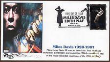 2012  ~ MILES DAVIS / EDITH PIAF ~ GLEN CACHET FDC 2 COVERS