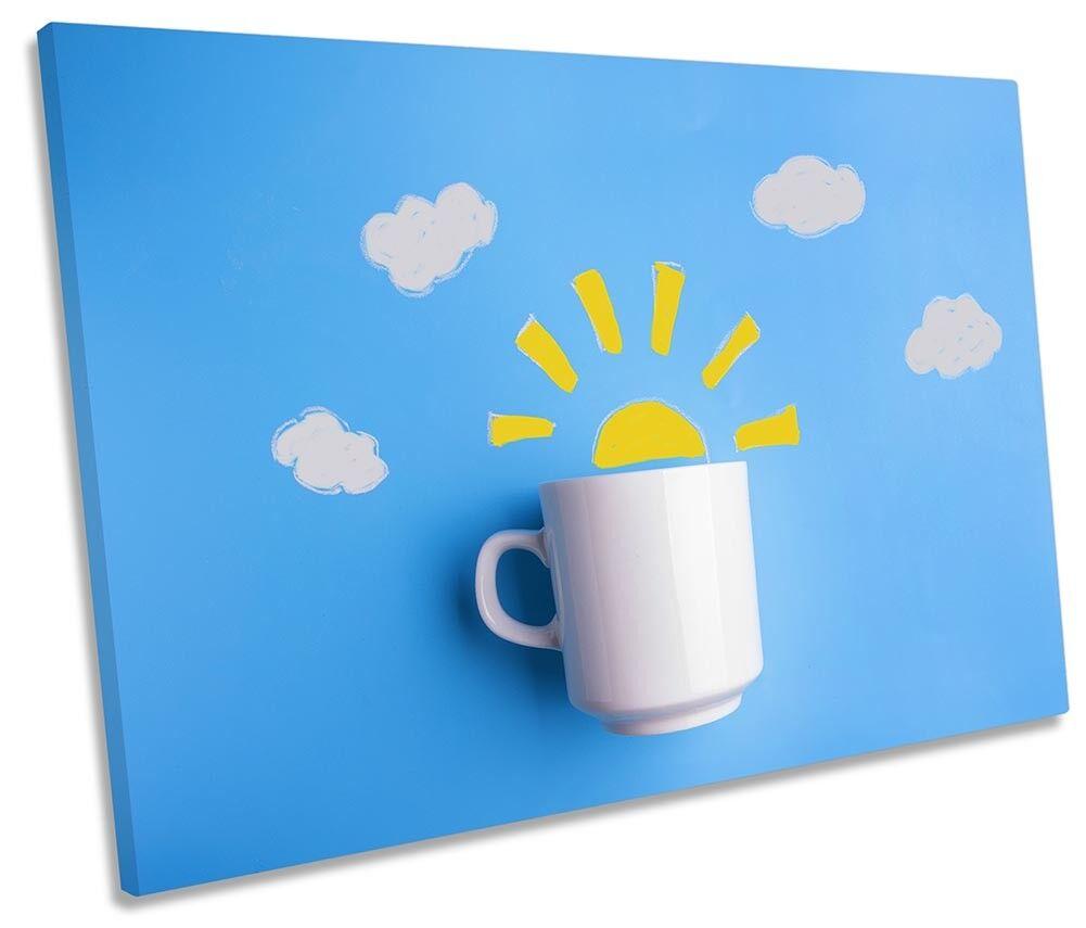 Il Caffè mattutino cucina singola a muro opera d'arte art print