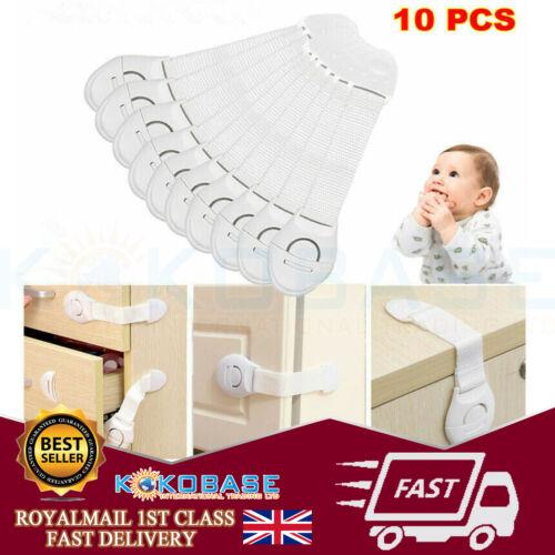 10 x Bébé Kid Enfant Verrou De Sécurité Preuve Cabinet Placard Tiroir Réfrigérateur Pet Door UK