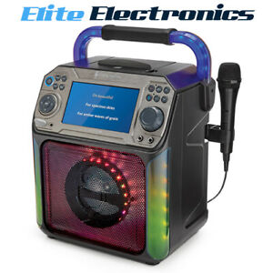 "Singing Machine Groove XL Bluetooth + Light Show Karaoke 7"" Display"