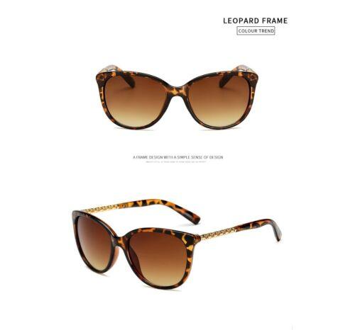 Lunettes De Soleil Lunettes Léopard Elegant UV Protection des yeux marron eye sunglasses