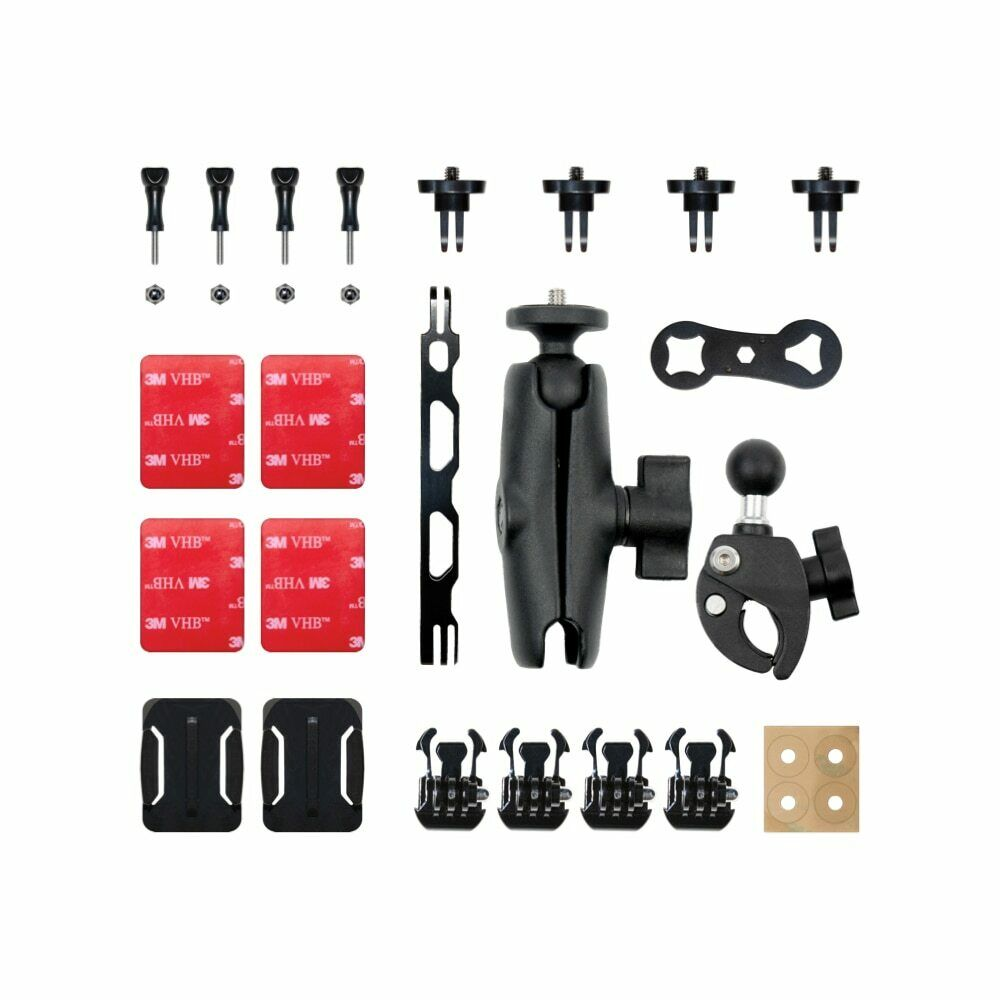 Insta360 Motorcycle Accessory Bundle for ONE X2, ONE R, ONE X, ONE Action Camera