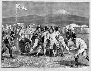 FOOTBALL-RUGBY-IN-JAPAN-IN-1874-BETWEEN-ENGLISHMEN-AND-SCOTCHMEN-JAPANESE-SPORTS