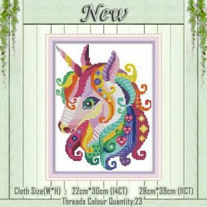 Details about Cross Stitch Painting Embroidery Set DIY Cotton Unicorn  Pattern Counted Crafts