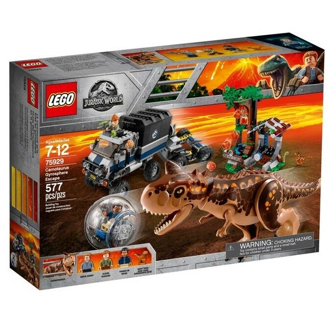 LEGO 75929 Jurassic World Fallen Kingdom Carnotaurus Gyrosphere Escape