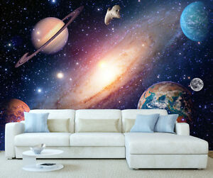 Image Is Loading Space Solar System Planets Wall Mural Photo Wallpaper