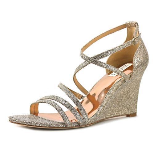 185 Dimensione 6.5 Badgley Mischka Landmark argento Wedge Strappy  Sandals donna scarpe  alla moda