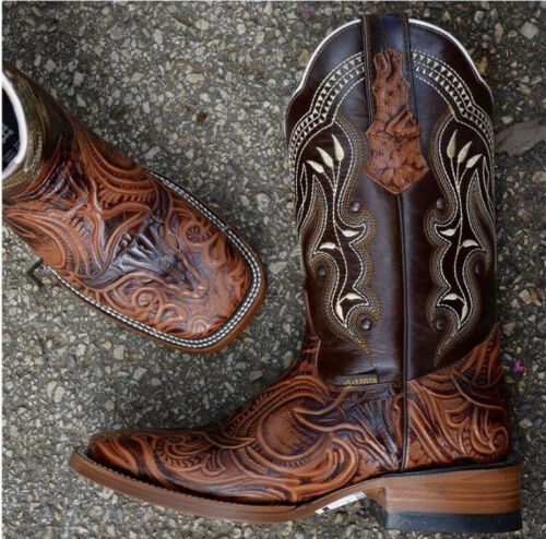 western boots men square toe 10.5