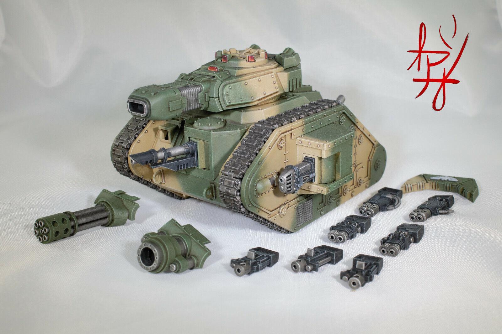 Signature US Artisan  40k Built, Painted & Magnetized Lehomme Russ Demolisher Tank  vente en ligne économiser 70%
