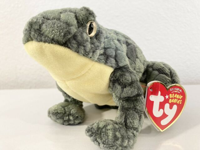 TY PONDER the FROG BEANIE BABY - with TAG