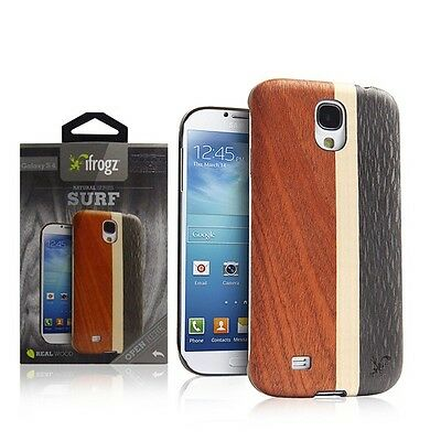 Genuine Original iFrogz Surf Natural Wood Series Case For Samsung Galaxy S4