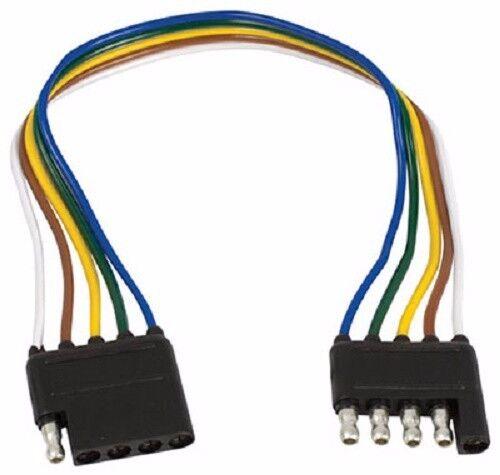 "12/"" 5 Way Flat Trailer Wire Extension Loop 2 Pack Infinite Innovations"