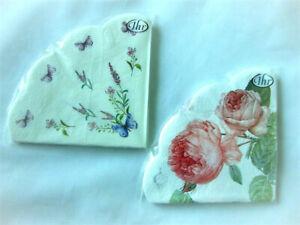 12-Runde-Servietten-Rondo-Blumenmotiv-Rosen-Lavendel