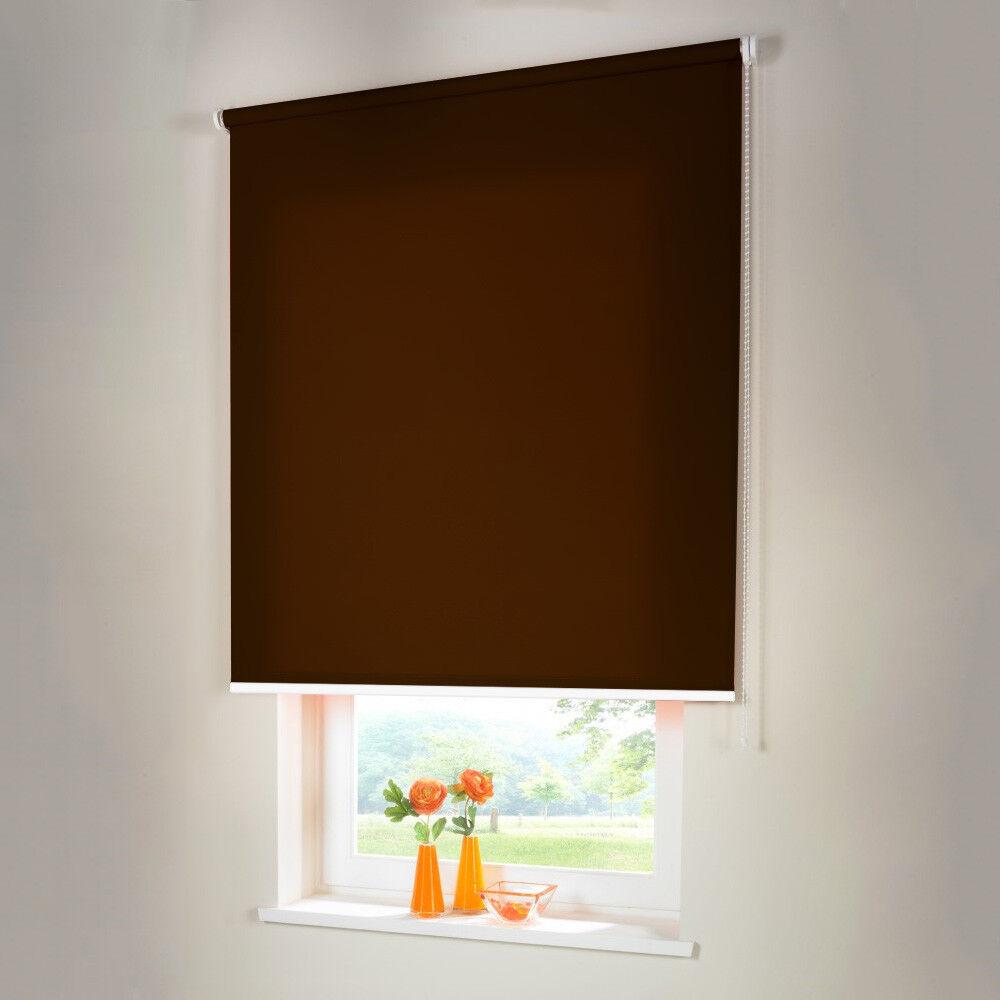 Seitenzugrollo Kettenzugrollo Rollo Sichtschutz - Höhe 140 cm dunkelbraun | Sehen Sie die Welt aus der Perspektive des Kindes