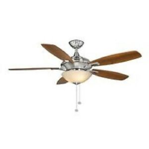 Hampton bay springview 52 in brushed nickel ceiling fan replacement image is loading hampton bay springview 52 in brushed nickel ceiling aloadofball Gallery