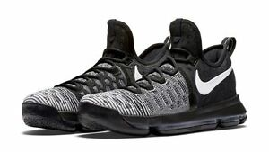 pretty nice 5c0ff 13dc3 Image is loading Nike-KD-9-IX-Oreo-Black-White-Mic-
