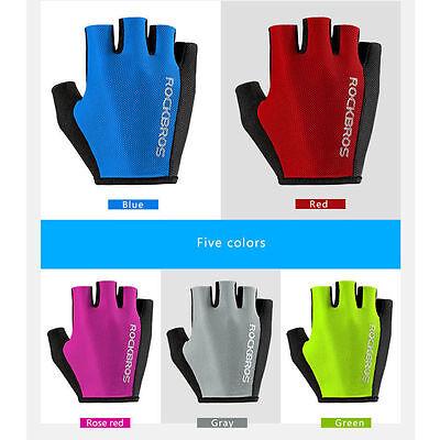 Rockbros Bike Pad Half Finger Short Finger Sport Breath Upgrade Basic Gloves