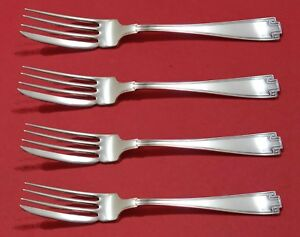 Etruscan-by-Gorham-Sterling-Silver-Fish-Fork-Set-4pc-AS-Custom-Made-7-034