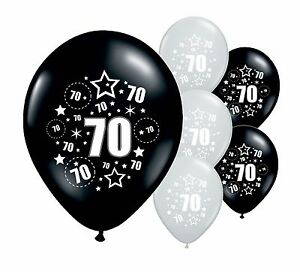 Image Is Loading 30 X 70TH BIRTHDAY BLACK AND SILVER 11