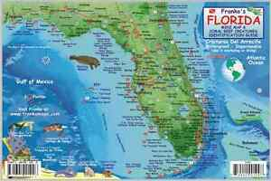 Florida State Dive Map & Reef Creatures Guide Laminated Fish Card by ...
