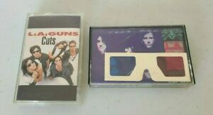 LOT 2 L.A. GUNS CASSETTE TAPES Hollywood Vampires w 3D glasses CUTS HEAVY METAL